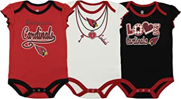 Outerstuff NFL Infant Girls Baltimore Ravens Assorted 3 Pack Creeper Set