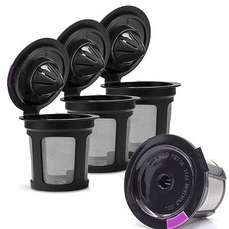 Filtros de café reutilizables, paquete de 4 tazas K recargables ...