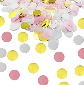 200 pink gold confetti baby shower confetti wedding confetti bridal shower circle confetti birthday party gold pink confetti first birthday party