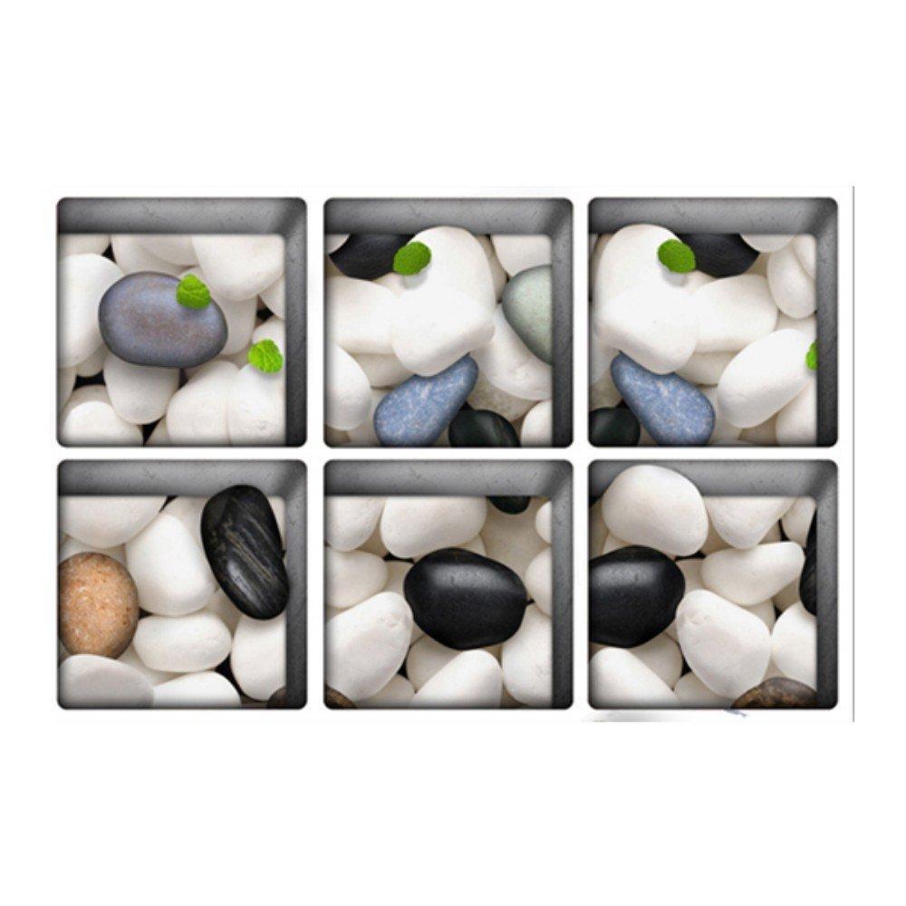 Ungfu Mall PAG 613x 13Cobblestone pattern 3d antiscivolo impermeabile adesivo per vasca da bagno