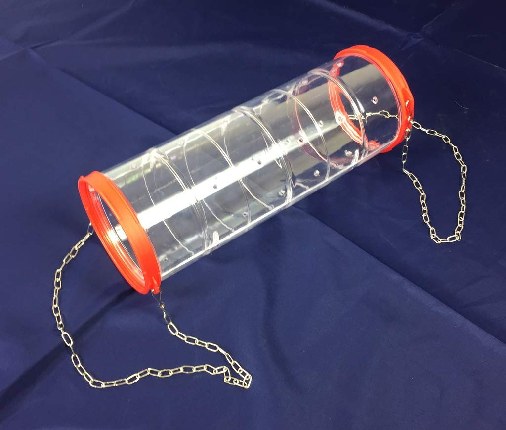 Global Pet Giant Clear Rat Ferret Chinchilla Play Tube With Chains 35 cm