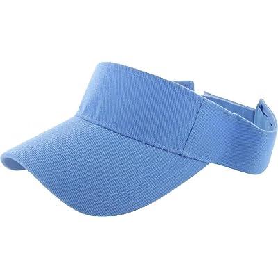 Sky Blue_(US Seller)Outdoor Sport Hat Sun Cap Adjustable Velcro