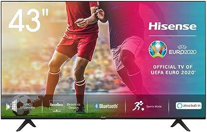 Hisense UHD TV 2020 43AE7000F - Smart TV Resolución 4K con Alexa integrada, Precision Colour, escalado UHD con IA, Ultra Dimming, audio DTS Studio Sound, Vidaa U 4.0: Amazon.es: Electrónica