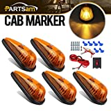 universal cab roof lights - Partsam Amber Teardrop Cab Clearance Marker Roof Light Kit Trailer Truck RV Pickup-5 Pack