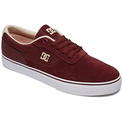 DC Mens Switch Skate Shoes, Maroon, 8.5D