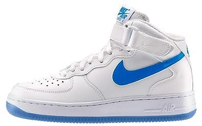 Nike Air Force 1 Mid Glow Gs Farbe: Blau Weiß Größe