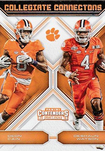 2018 Panini Contenders Draft Picks Collegiate Connections #11 Deon Cain/Deshaun Watson Clemson Tigers NCAA Collegiate Fo