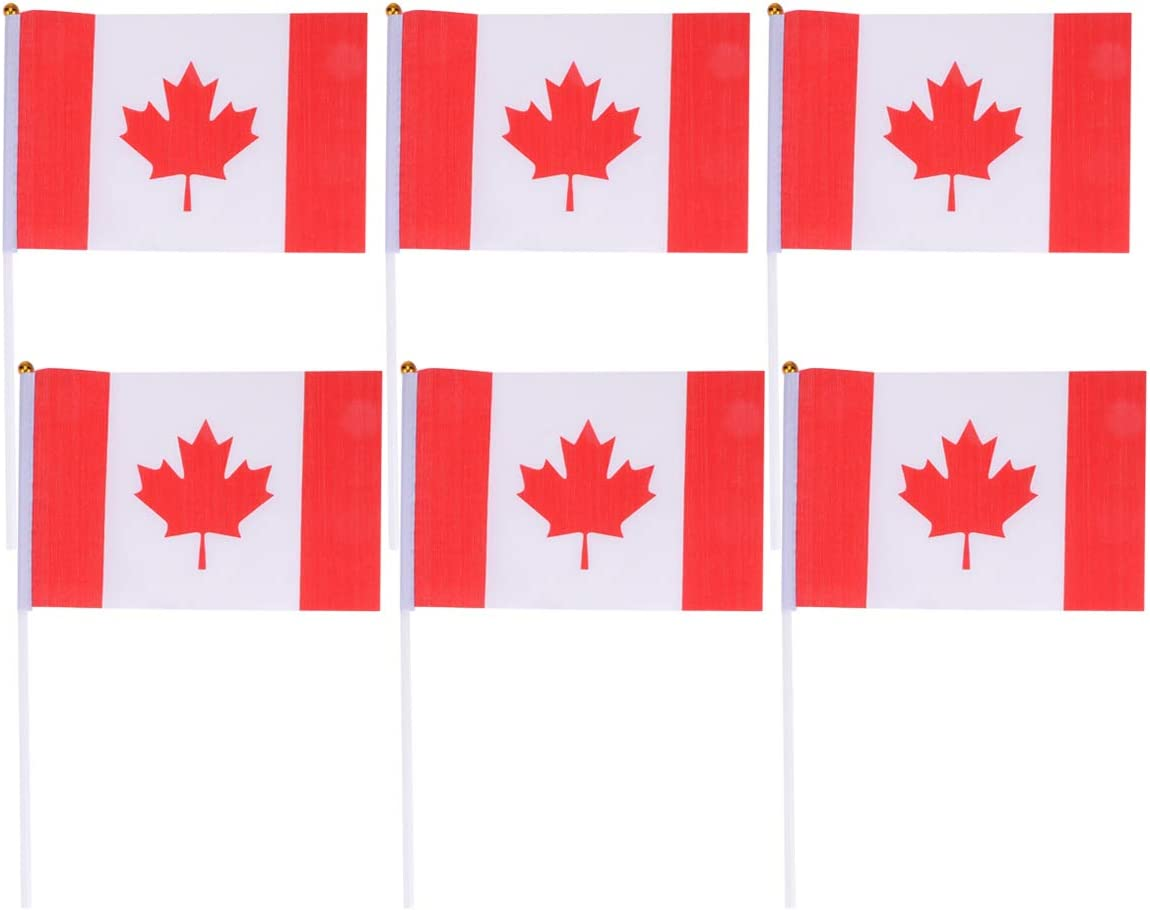 with Pole /& Spear Top Canadian Flag 5.5 X 8 Inch Canadian National Small Mini Flags Festival Events Handheld Canadian Country Flag