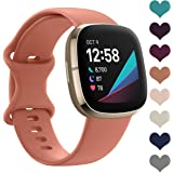 LORDSON Sports Band Compatible with Fitbit Sense & Versa 3 for Women Man, Soft Silicone Replacement Watch Strap Wristband Acc