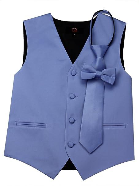 Amazon.com: Marca Q Boy s Tuxedo Chaleco, corbata & Bow-Tie ...