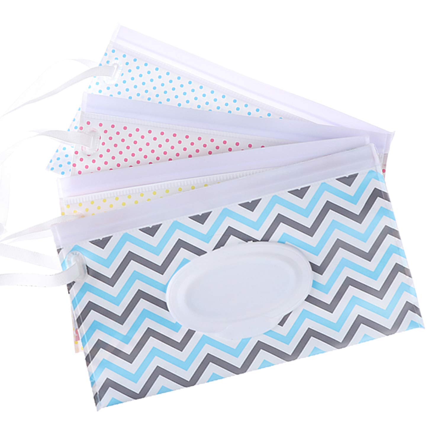 4 Pack Reusable Wet Wipe Pouch Dispenser for Baby or Personal Wipes,Wet Wipe Portable Travel Cases