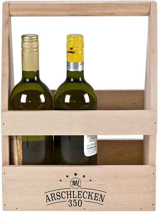 Arsch lamiendo el 350 para botellas de cerveza portador Caja de herramientas de Sepp bumsinger, aliso Madera, aprox. 35 x 26,5 x 19,5 cm: Amazon.es: Hogar