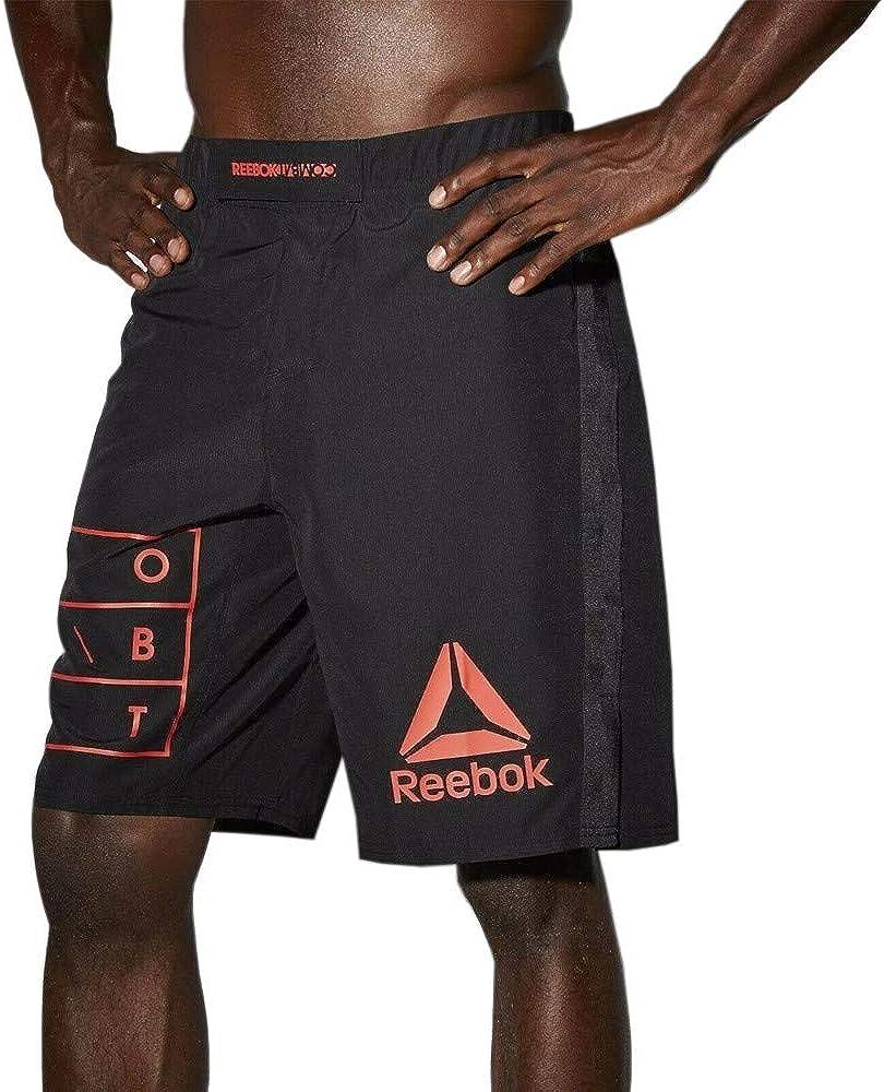 Men/'s Reebok UFC Fight Training Shorts AP6798 Red Black