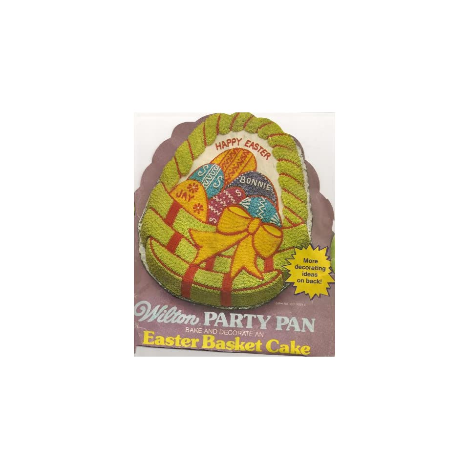 Wilton Cake Pan Easter Basket with Eggs (502 1727, 1980)