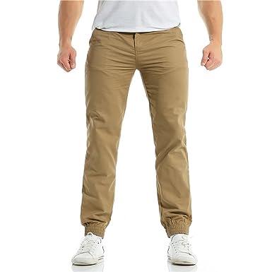 YiYLunneo Pantalones de Hombre Pantalones Deportivos Aire Libre ...