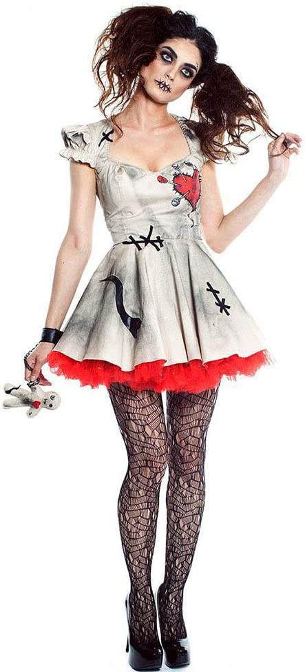 LVLUOYE Disfraz de muñeca de Porcelana Cosplay de Halloween, Circo ...