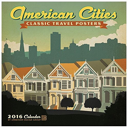American Cities Classic Posters - 2016 Calendar 12 x 12in