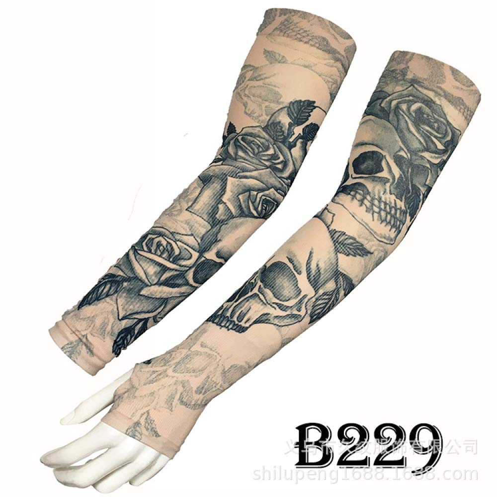 tzxdbh Mangas de Tatuaje de Hielo Mangas de Tatuaje de Seda de ...