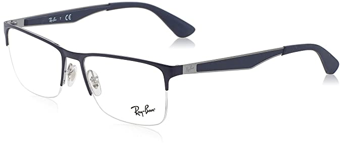 bfa8684572 Image Unavailable. Image not available for. Colour  Ray-Ban Half Rim  Rectangular Men s Spectacle Frame ...