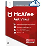 McAfee AntiVirus Protection 2021, 1PC, Internet Security Software, 1 Year - Download Code