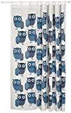Owl Shower Curtain Now Designs Cotton Shower Curtain, Owls Blue Print