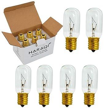 Paquete de 6 bombillas para microondas E17 de 40 W, T8 tubular de ...