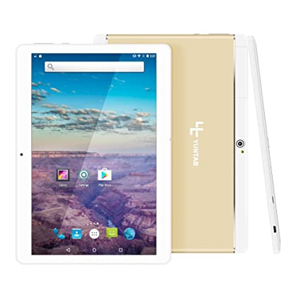 Yuntab K17 Tablet táctil IPS 10.1 Pulgadas 3G WiFi PC Aleación Metal atrás Quad-Core Android 1GB + 16GB Dual SIM Card Slots,GPS,WiFi,Youtube ...