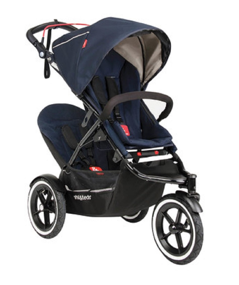 phil&teds Sport Stroller with Doubles Kit, Midnight by phil&teds (Image #1)