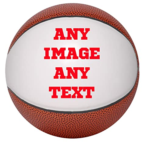9aa51371883 Amazon.com : Personalized Basketballs - Custom Photo Basketball Gift - Mini  Size Basketball - Any Image - Any Text - Any Logo : Sports & Outdoors
