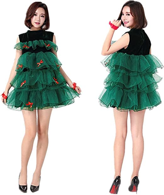 SDJ Disfraz de Miss Santa para Mujer Ropa de Estilo navideño ...