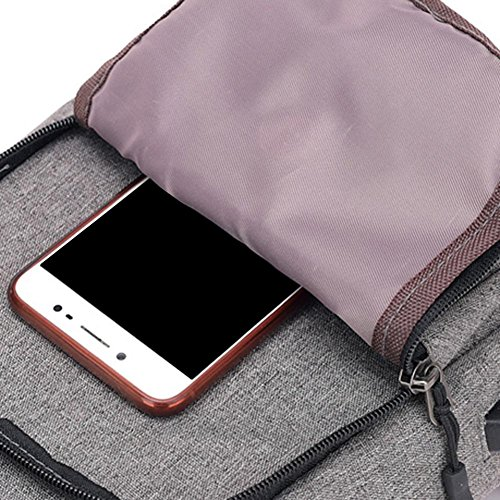 Handbags Packs Men Prosperveil USB Charging Messenger Grey Chest Nylon Sports Shoulder Strap qgxaBvpw