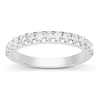 Amazon.com: Forever Classic 2.0mm Moissanite Wedding Band size 9