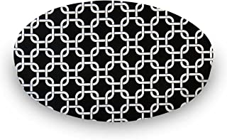 product image for SheetWorld 100% Cotton Percale Round Crib Sheet, Black Links, 42 x 42, Made in USA
