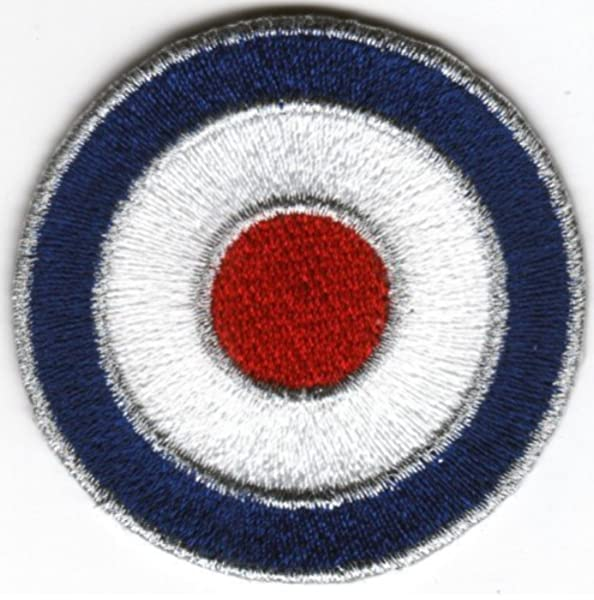 Sew-on Iron-on Embroidered Patch MOD Target British Scooter Lambretta Vespa Badge: Amazon.es: Electrónica