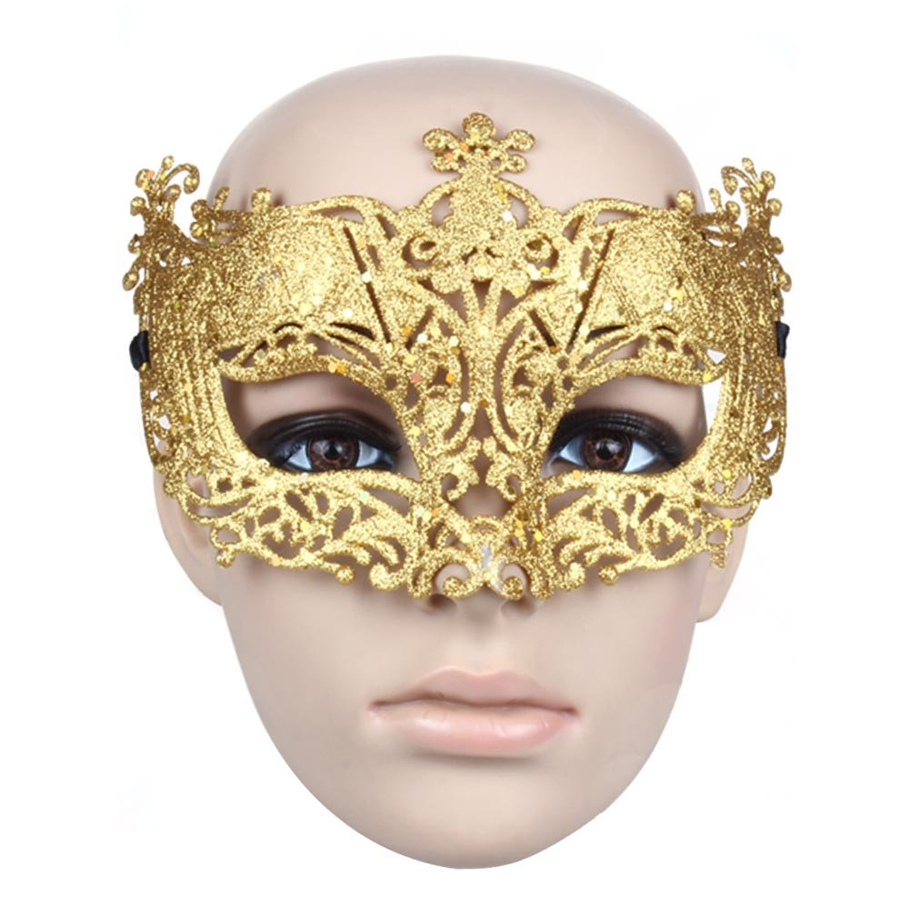Accmart(TM) Women Mask Venetian Masquerade Party Dress Carnival Costume Fancy Ball Halloween Masks Gold: Amazon.co.uk: Toys & Games