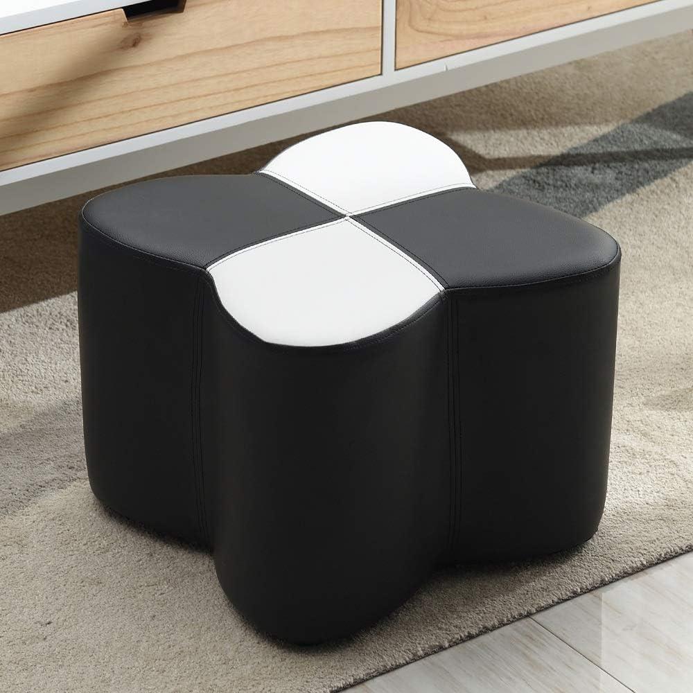 Taburetes ZR Sofá, Puerta Entrada Dormitorio Sala Estar Usando Un Bloque Zapatos Marco Madera PU - no deformado (Color : Negro)