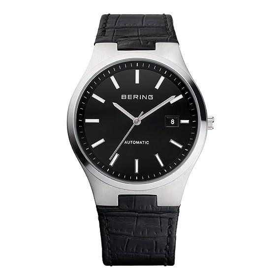 BERING Reloj Analógico para Hombre de Automático con Correa en Cuero 13641-404: Amazon.es: Relojes
