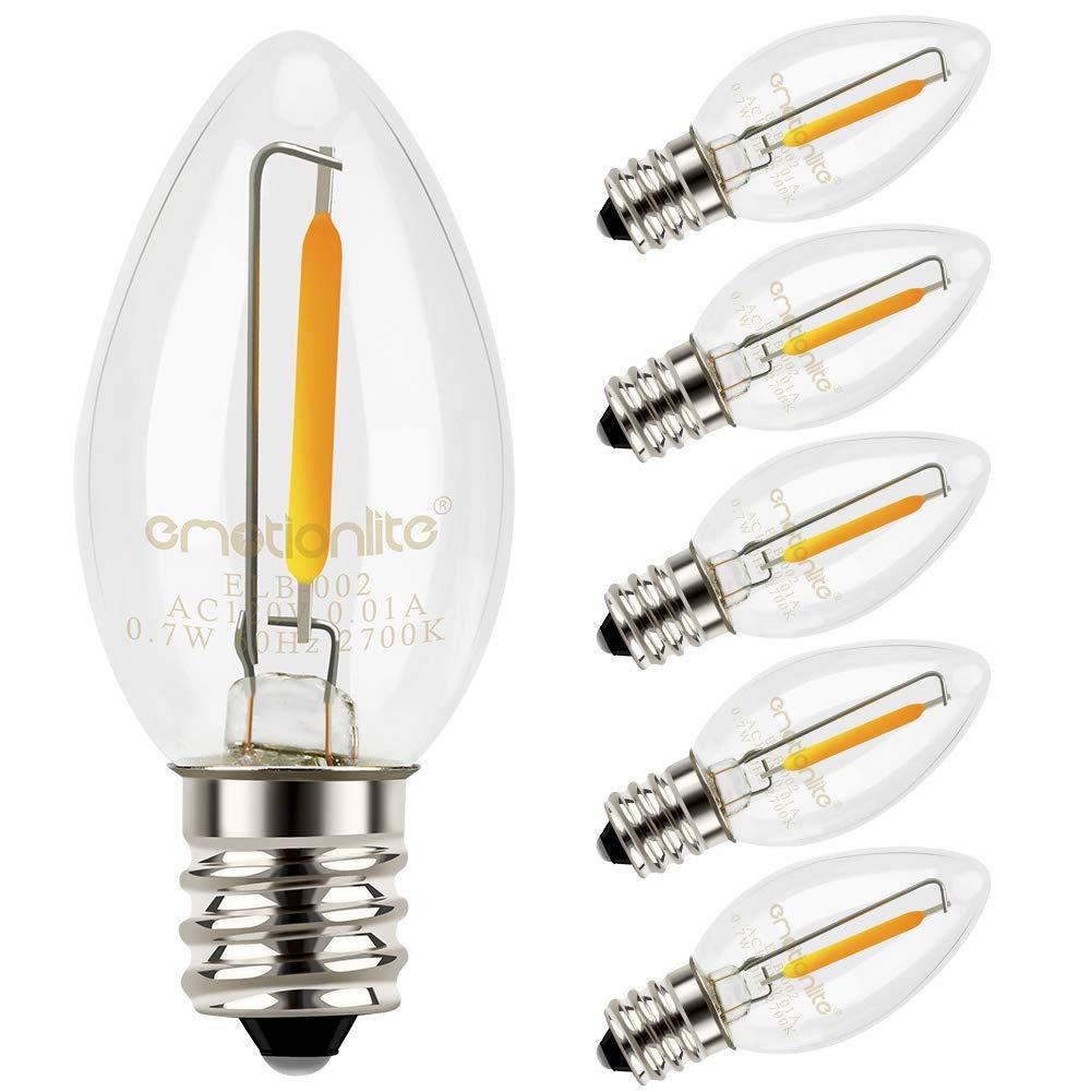 C7 Led Bulb >> Night Light Bulbs Emotionlite Led C7 Bulb E12 Candelabra Base