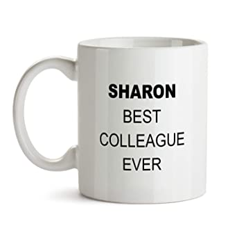 Amazon Sharon Best Colleague Ever Gift Mug
