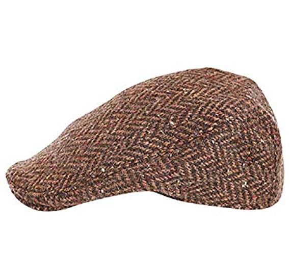 Hanna hats men donegal tweed donegal touring cap small brown herringbone  jpg 569x547 Hanna hats 966e1f4514a5
