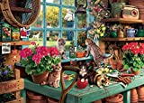 AMxinGKAi 1000 Piece Puzzle, Difficult Jigsaw Puzzle Set for Adults (Windowsill Cats)