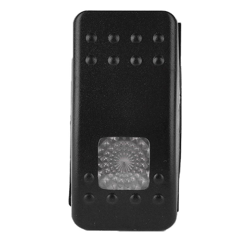Supmico 3 X Auto Kippschalter Druckschalter Schalter Wippschalter Wasserdicht 12V 20A Wei/ß Licht Beleuchtet 3Pin