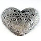 Heart Shaped Memory Stone for Brother