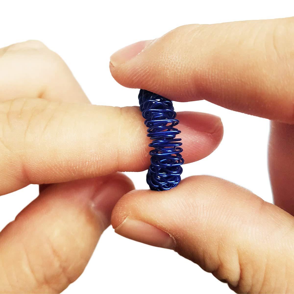 ,Kids Teens /& Adults Silent Stress Reducer /& Massager for Fidget ADD ADHD OCD Autism Pack of 12 Stress Relief Fidget Sensory Toys Spiky Sensory Finger Rings Sensory Toys