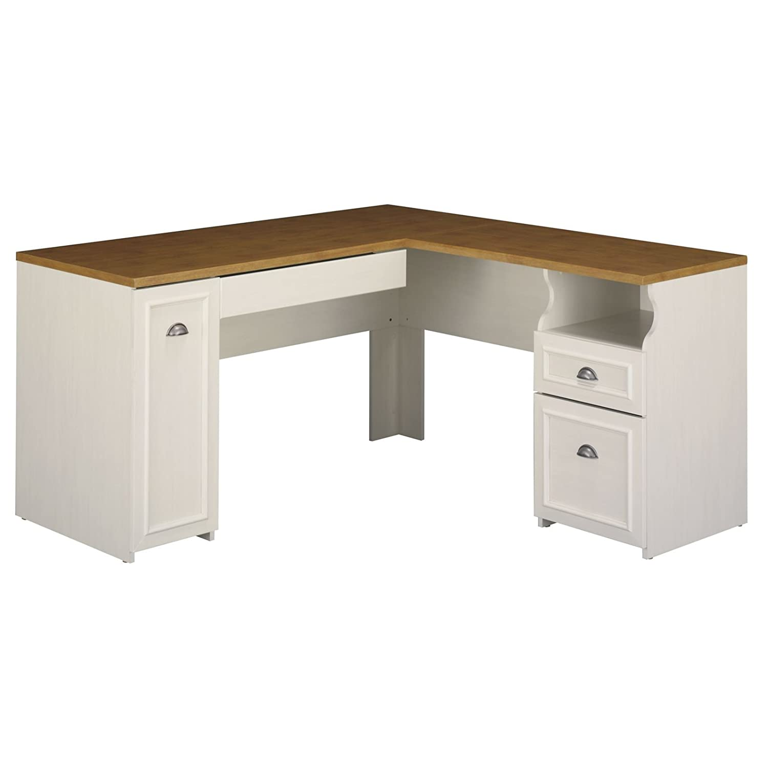 - Amazon.com: Fairview L Shaped Desk In Antique White: Kitchen & Dining