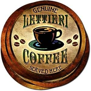 Lettieri Coffee Neoprene Rubber Drink Coasters - Set of 4