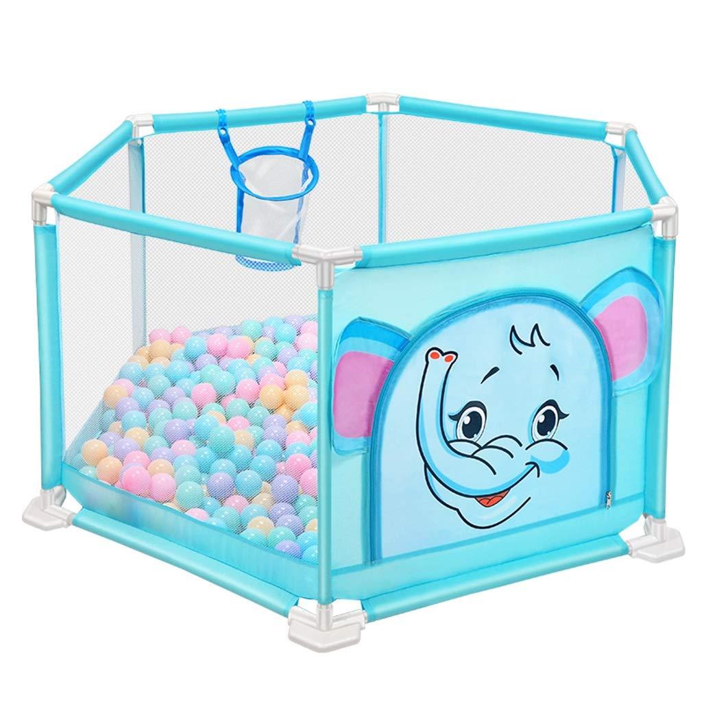 子供の遊びフェンスの幼児の安全フェンス屋内の遊び場の赤ちゃんのクロールマットの幼児 (Color : Blue, Size : 140 * 66cm) 140*66cm Blue B07H2SRY65