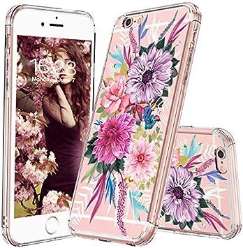 MOSNOVO Coque iPhone 6 Plus, Coque iPhone 6S Plus, Floral Flower Blossom Fleur Clair Design Motif Arrière avec TPU Bumper Gel Coque de Protection pour ...