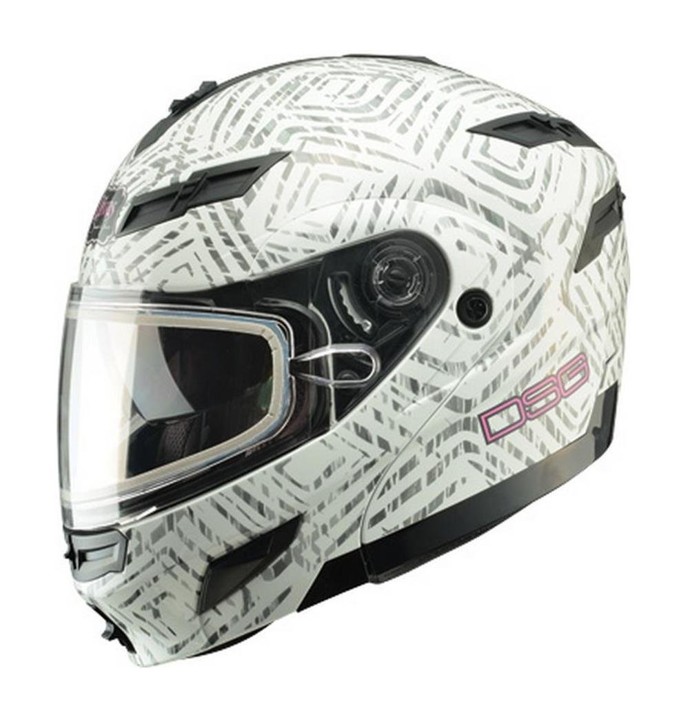 7b4f894e Amazon.com: GMAX GM54S DSG Aztec Mens Street Motorcycle Helmet - White  X-Large: Automotive