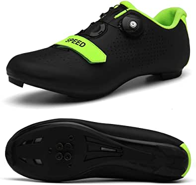 Men's Road Bike Cycling Shoes Spin Shoes with Compatible Cleat Peloton Shoe with SPD and Delta for Men Lock Pedal Bike Shoes